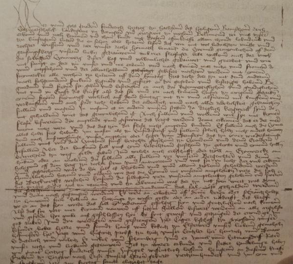 Urkundetext von 1451
