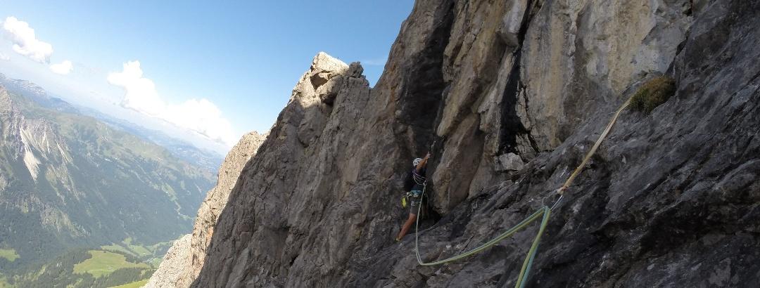 Alpinklettern an der Trettachspitze