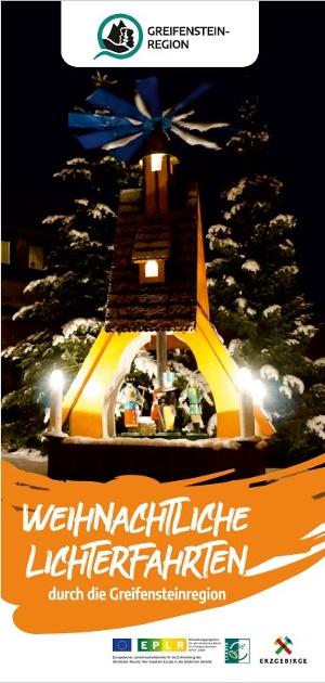 """Titelbild Flyer """"Weihnachtliche Lichterfahrten"""""""