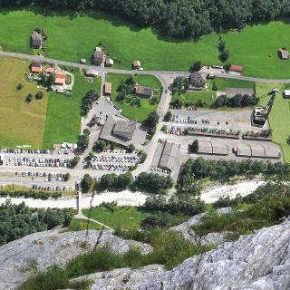 Am Klettersteig Mürren-Gimmelwald.