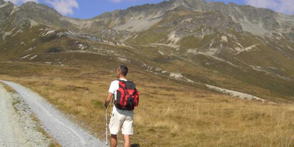 Auf dem Weg von der Friedrichshafener Hütte zu den Hohen Köpfen