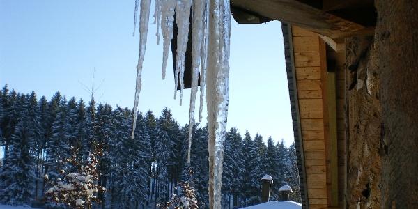 Eiszeit an der Hiebammen Hütte