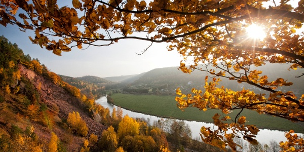 Elster river view