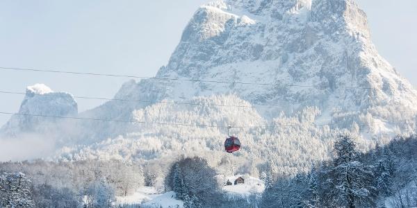 Rotenfluebahn & grosse Mythen im Winter