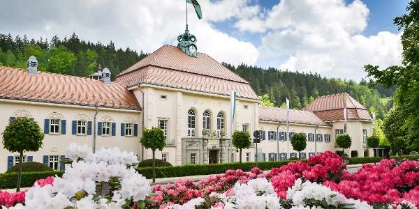 Albert Bad in Rhododendronblüte