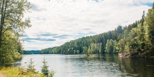 Nøklevann from the trail