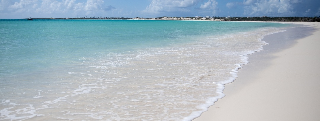 Sandy beach on the island of Anguilla