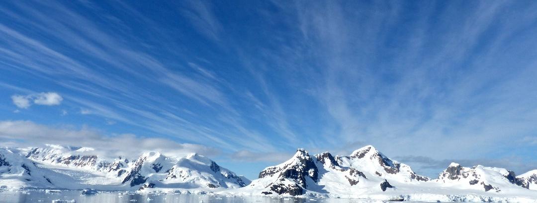Ice landscape in Antarctic