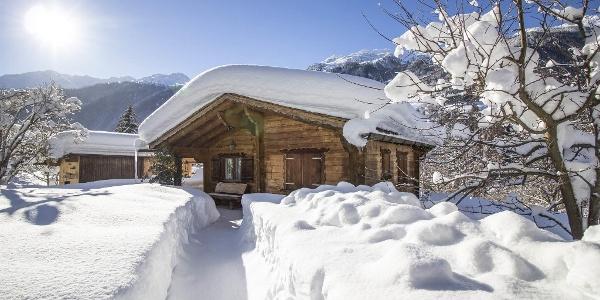 Hüsli Alpenrose, Winter