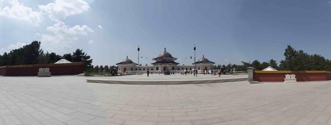 内蒙古 鄂尔多斯市 伊金霍洛旗草原 成吉思汗陵