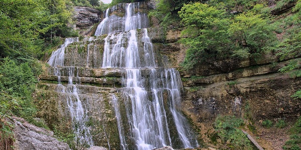Cascade de l'Eventail dans le Jura