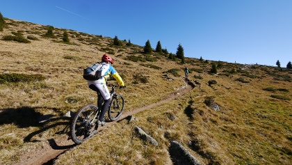 Mountainbiker in Südtirol