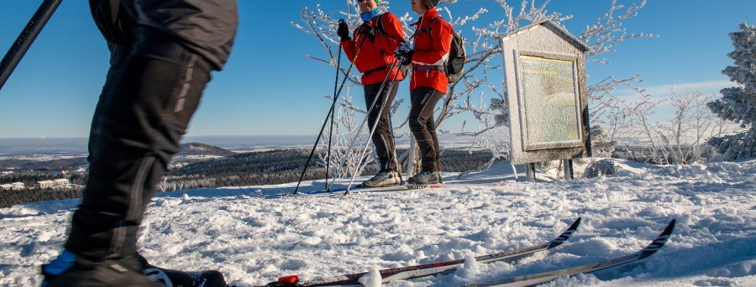 Langläufer auf dem Kahleberg