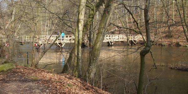 die Holzbrücke im Durchbruchstal