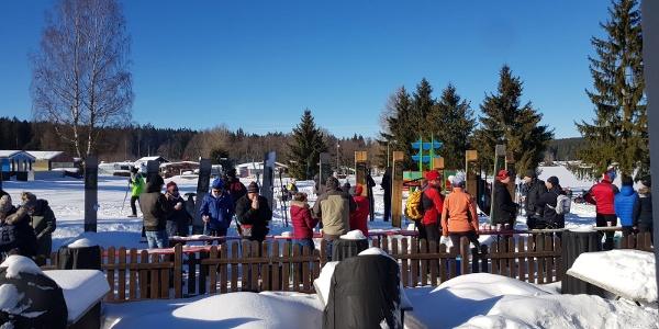 Biergarten im Campingpark