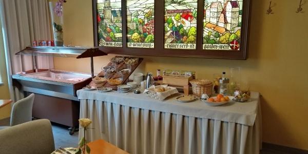 Frühstücksraum in der Pension Zur Altstadt