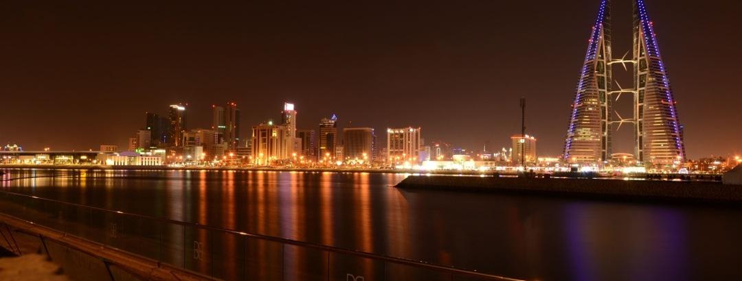 Blick auf die Skyline von Manama, Bahrain
