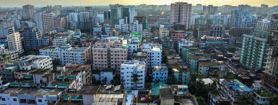 Blick auf Banani, ein Stadtviertel von Dhaka