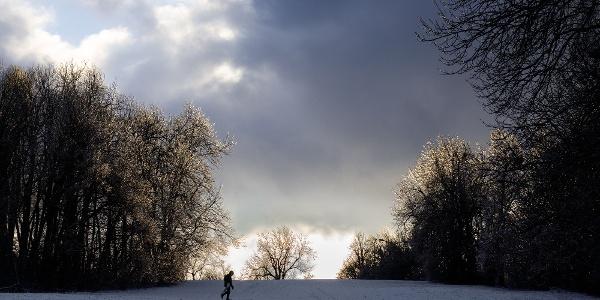 Tél a Normafa sípályáján