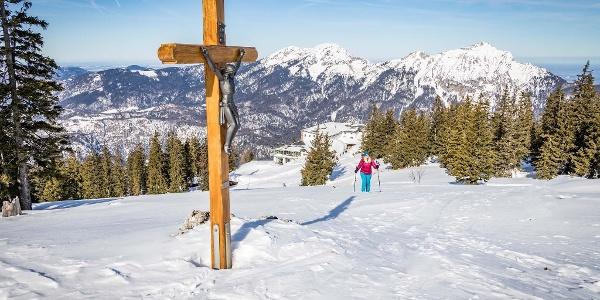 Schneeschuhwanderung zum Gipfeln im Lattengebirge