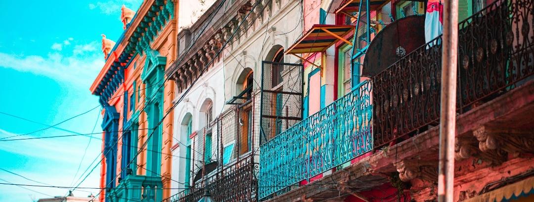 Barrio La Boca en Buenos Aires, Argentina