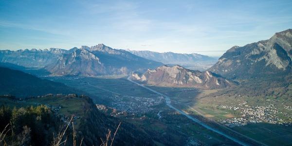 Ausblick vom Pizalun