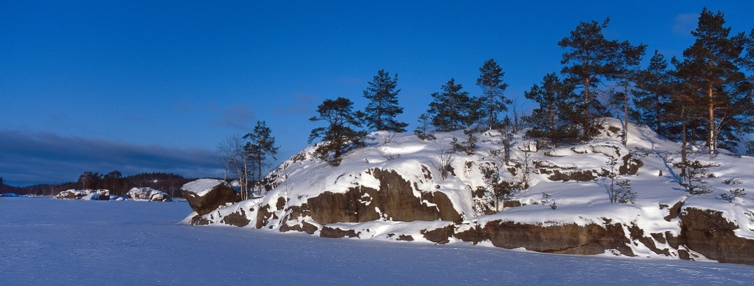 Talvinen kuva Saimaalta
