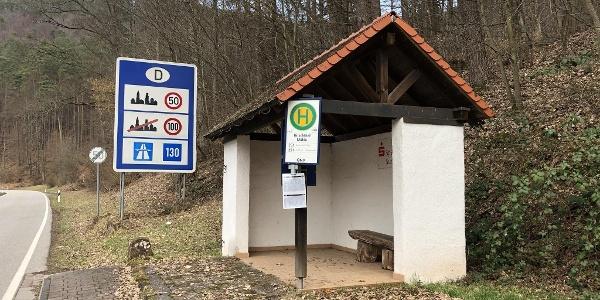 Bushaltestelle Hirschthal Mühle