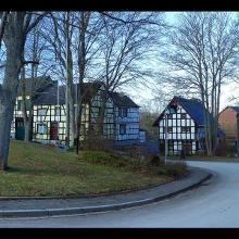 Fachwerkhäuser am Frohnhof in Glehn