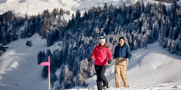 Schneeschuhlaufen auf dem Stoos