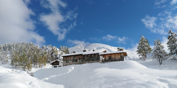 Schneibsteinhaus mit Blick zum Schneibstein