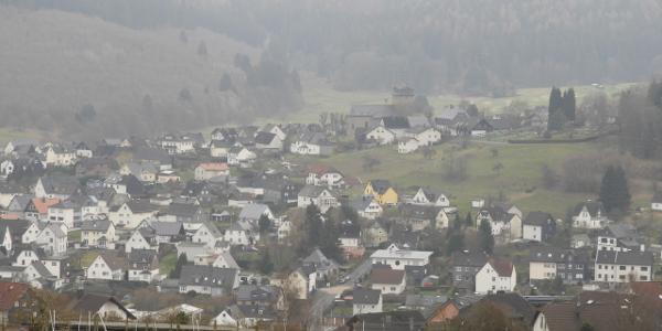 Blick vom Gispel auf Ewersbach