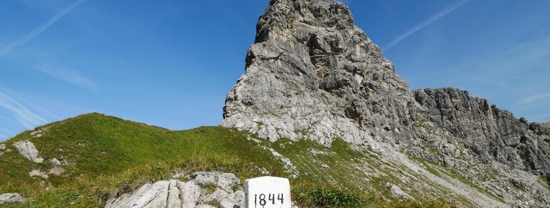 An der Grenze zwischen Deutschland und Österreich