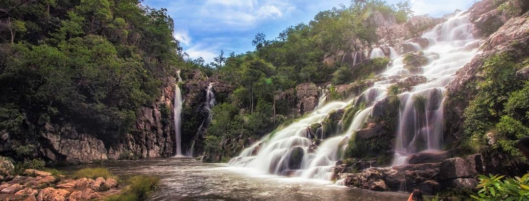 Cachoeira Capivara em Cavalcante, Goiás - Brasil