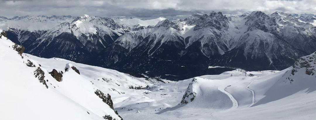 Sicht auf Unterengadiner Berge