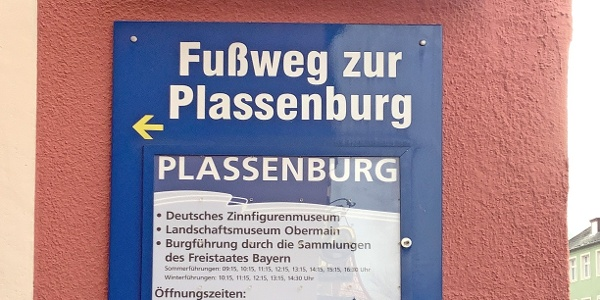 Beginn des Nordwegs in Kulmbach