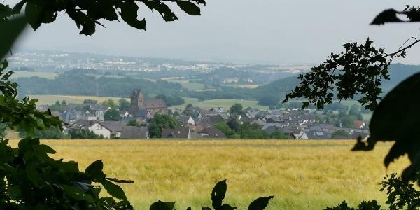 Blick auf Alzheim und die Eifel