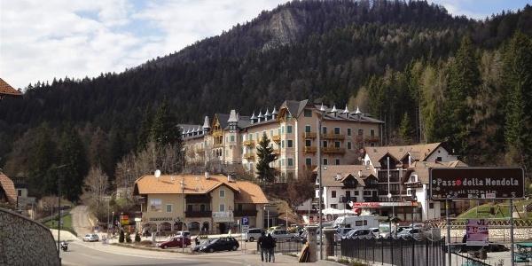 Am Mendelpass, dem Übergang von Südtirol ins Trentino