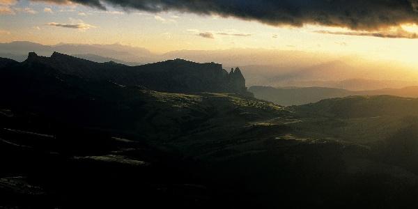 Radrunde überdieSeiser Alm,eine der schönsten Hochalmen Europas.
