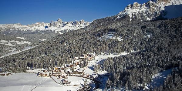 Vom Lavazèjoch durch den märchenhaft-winterlichen Wald nach Obereggen.