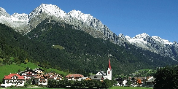 The village of Anterselva with a wonderful horizon.