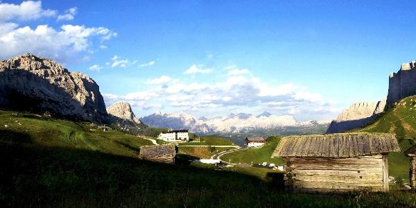 Landscape at the Passo Gardena.