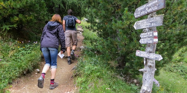 On the path number 22 to 'Passo Feudo'.