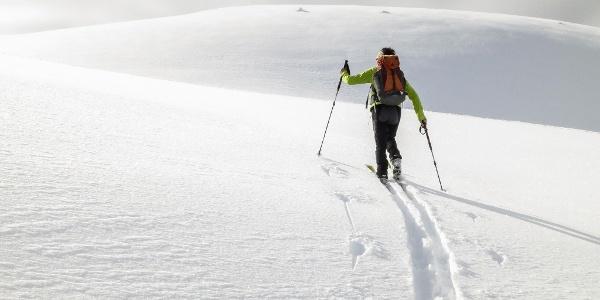 Schwierige Skitour über die Höchster Hütte auf die Zufrittspitze im Ultental.