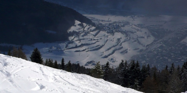 View of Vipiteno/Sterzing in the Alta Valle Isarco/Wipptal valley