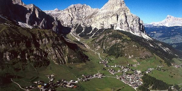 The striking Sassongher above Calfosch - Kolfuschg in Alta Badia.