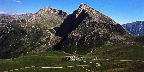 Der Jaufenpass mit gleichnamiger Bergspitze
