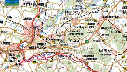Alternativroute Weserradweg über Kalletal