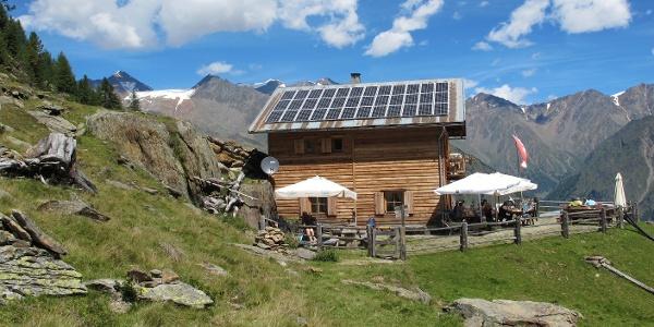 Die Klosteralm mit Ötztaler Alpen