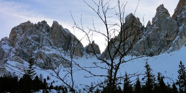 The end of the tour is the Forcella di Mezzodi nelle Odle.
